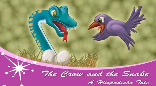 The Crow and the Snake: A Hitopadesha Tale